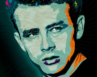 James Dean Art Print -A3 Portrait