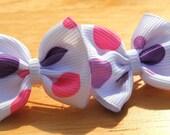 Pink and Purple Itty Bitty Bow Set