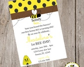 Honey BEE  FULL Printable Collection- Invite, Party Tags, Bunting Banner, Station Cards, Cupcake Wrapper, Water Bottle Label