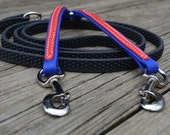 Biothane Coupler and Grippy Leash with Overlay