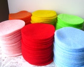 """150 pcs, 3"""" Hand cut Felt Circles - Made to Order You CHOOSE the color"""