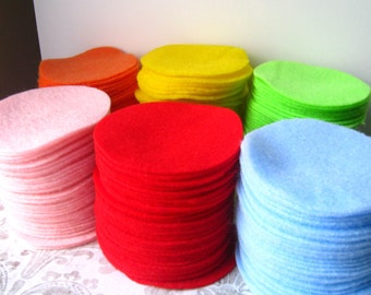 """500 pcs, 3"""" Hand cut Felt Circles - Made to Order You CHOOSE the color"""