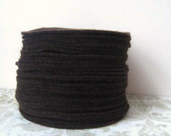 """30 pcs, 3"""" inches Hand cut Fabric Circles - Dark Brown"""