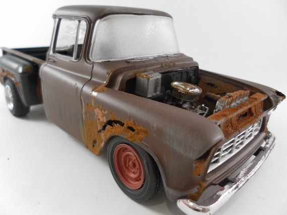 1950s chevy truck 1 24 scale model car in brown. Black Bedroom Furniture Sets. Home Design Ideas