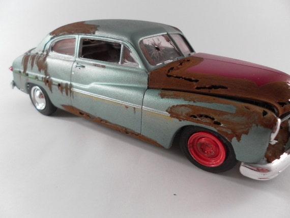 1949 Mercury 1/24 scale model car in metallic green