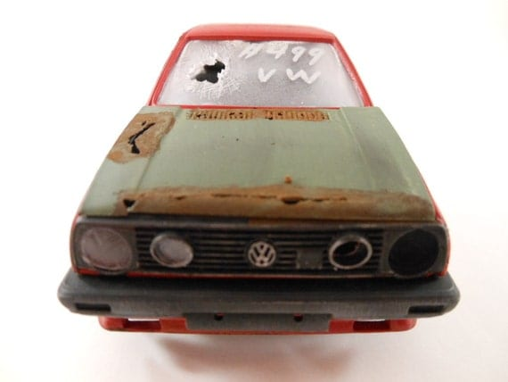 VW GTI 1/24 scale model car in red
