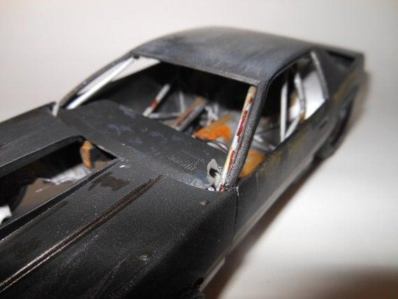 1980s Camaro IROC 1/24 scale abandoned black race car