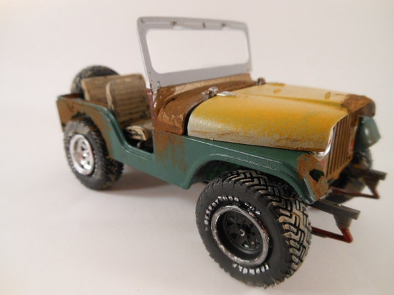 1970 Jeep CJ 1/24 scale model car in green