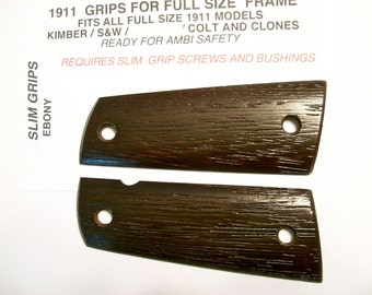 Custom made SLIM gun grips -Ebony