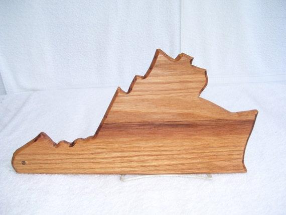 Virginia state cutting board - made of oak