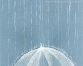 "Rain Rain --ORIGINAL Watercolor painting 9""x6.5"""