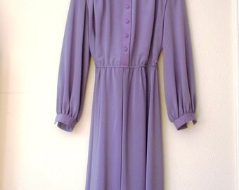 Vintage 1970s  Adolph Shuman for Lilli Ann Lavender Dress