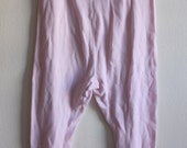 Vintage Pale Pink Waffle Knit Long Underwear // High Waisted