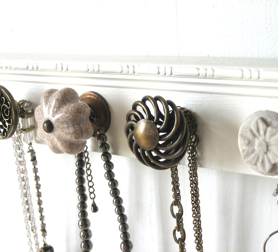 Jewelry Rack with Assorted Knobs