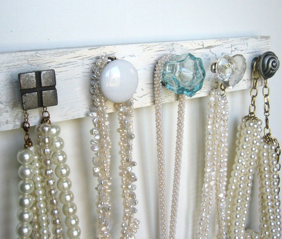 Accessories Rack with Eclectic Knobs