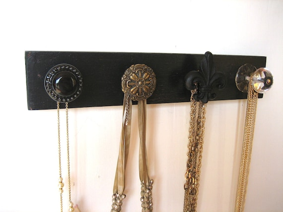 Jewelry Organizer Rack with Four Unique Knobs
