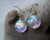 BUBBLES Fused dichroic glass earrings
