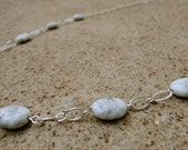 Howlite Necklace - Howlite Stones on Silver Plated Chain