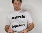 Nerds are the new hipsters typography tshirt - mens unisex sizing