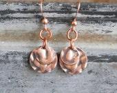 Copper Simple Earrings Bohemian Earrings Earthy Rustic