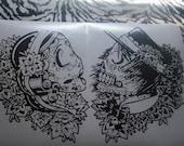 Day of the Dead Sugar skulls, Vinyl sticker.