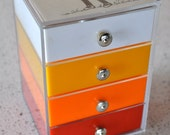 Mod Plastic Jewelry Box with drawers Musical