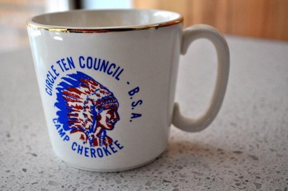 Boy Scouts  Mug of America Circle Ten Council Camp Cherokee Coffee Mug vintage