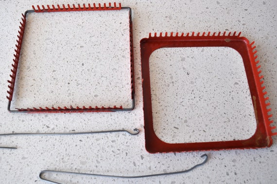Metal Loom for Weaving Pot Holders Summer Time Project