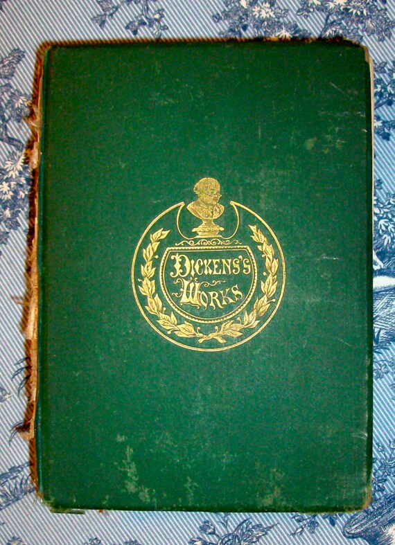 1873 DICKENS'S WORKS Riverside Edition / Christmas Books /Two Volumes in One/ Hurd And Houghton