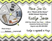 Chevron Bridal Shower Invitation - Room of the House Theme - Printed or Digital DIY