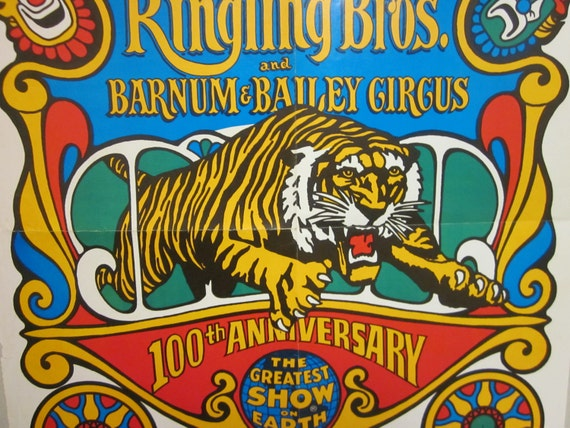 Vintage ringling bros barnum amp bailey circus poster with bonus