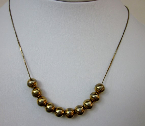 Vintage 1980s Add A Bead Necklace