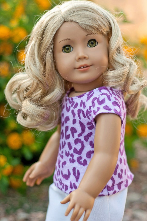 Doll Clothes: Leopard Print Graphic Burnout Tee for an American Girl Doll or other 18 Inch Doll