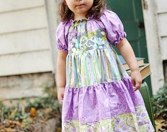 Trinity's Tiered Twirly Dress PDF Pattern size 6-12 months to size 8