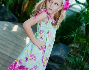 Faith's Shirred Sundress PDF Pattern size 6-12months to size 8 girls