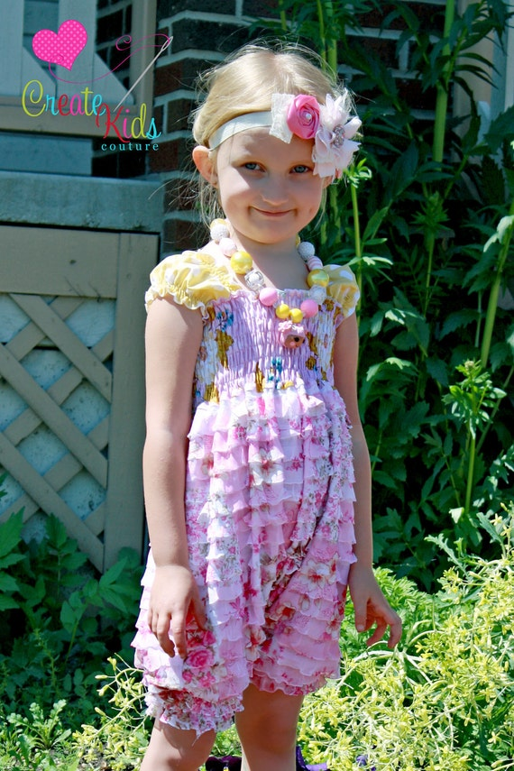 Bella's Ruffle Fabric Romper PDF Pattern size 18 months to size 6