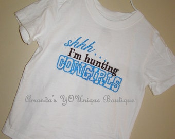 Shhh...I'm Hunting Cowgirls Embroidered Shirt