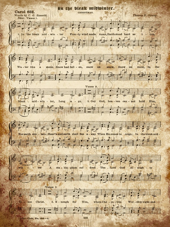 Bright image intended for christmas carols sheet music free printable