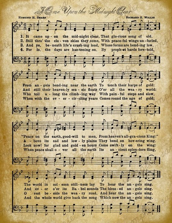 Soft image throughout vintage sheet music printable