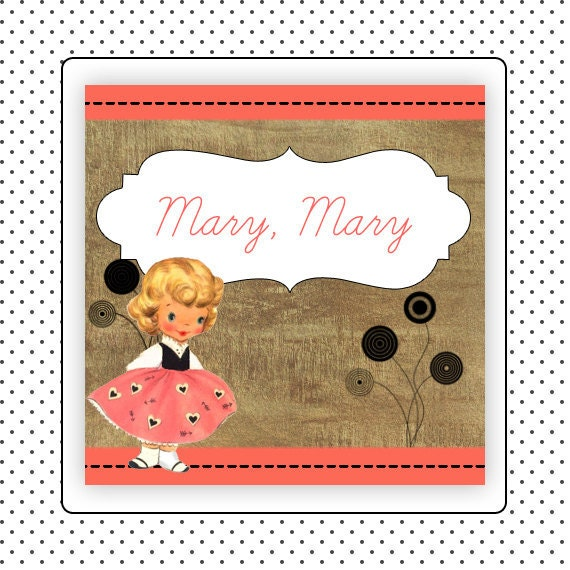 Etsy Shop Banner Set w/ New Size Cover Photo Cute Vintage Design - Pre-made Melon and Black with Vintage Girl - 6 Piece Set