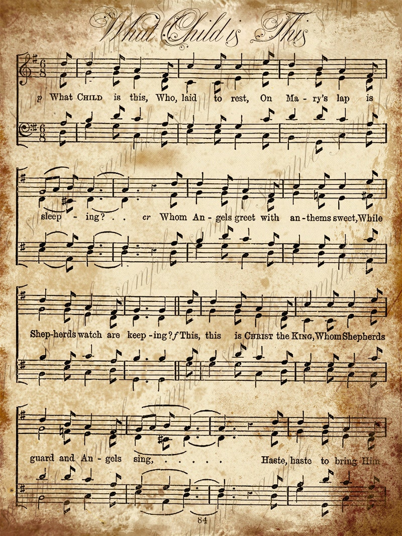 It's just a photo of Gratifying Printable Christmas Sheet Music