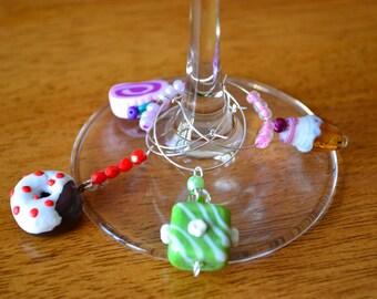 Sweets & Treats Wine Charm Set