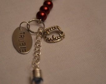 True Blood Rearview Mirror, Purse, Or Key Ring Charm
