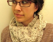 Infinity Scarf - Aran Fleck - Crochet Infinity Scarf