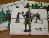 Clearance--Can I Get a Yut Yut Military Men Note Card Set of 8