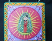 Virgencita Plis - Retablo // Wooden Wall Art Plaque