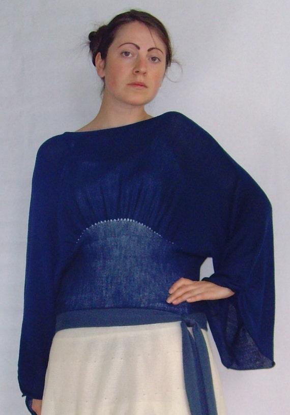 Blue Kimono Top. Royal Blue Fine Knit Kimono Top by ...