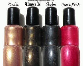 Fever Inspired Bundle - Seelie Unseelie Shades and Hawt Pink - 4 Pack - Vegan Non Toxic Nail Polish 8ml x 4