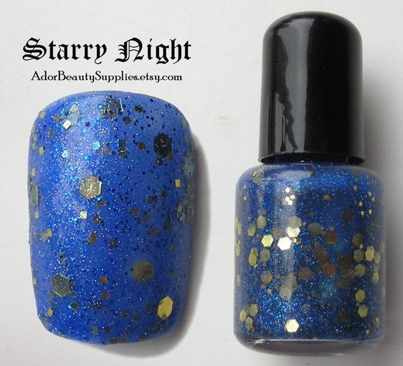 Starry Night Nail Polish 8ml Vegan - Glitter Polish