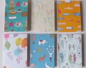 Six Mixed Greetings Cards with Envelopes - Repeat Designs